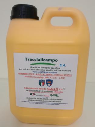 14 CONFEZIONI TRACCIAILCAMPO E.A. Concentrato Liquido GIALLO – VERNICE NON PERMANENTE lt. 2 (SportWeb)